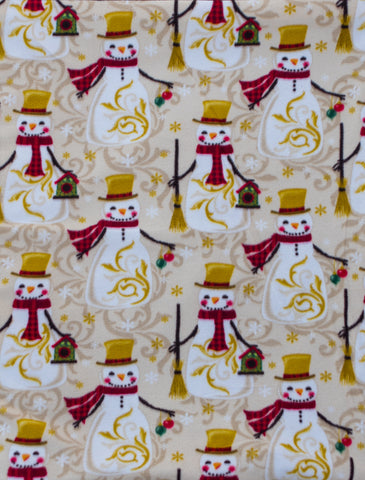 "Dog Pocket ""Holiday Snowmen"""