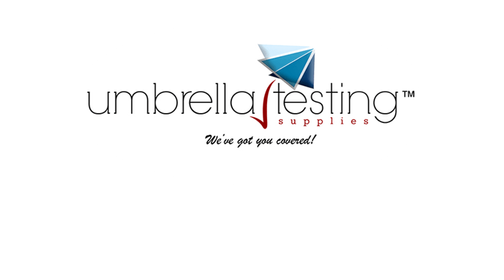 Official - Umbrella Testing Supplies Blue Footer Logo