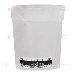 6.5oz - Beaker Collection Cup - Urine Collection Cup w/Spout and Temp Strip