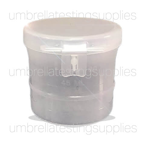 View images for 90mL Flip top collection cup graduated 840005