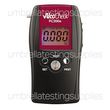 AlcoCheck - Model FC300 - Breathalyzer - 0.05% to 0.50% - Color LCD Display