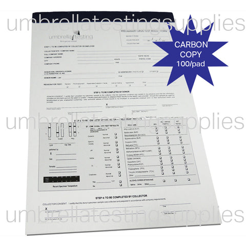 View images for Chain of Custody - Drug Test Result Form - Carbon Copy