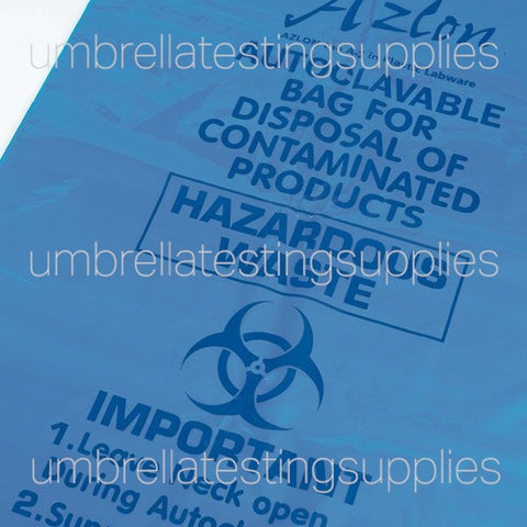 Autoclavable Bags, Blue (300x608mm)