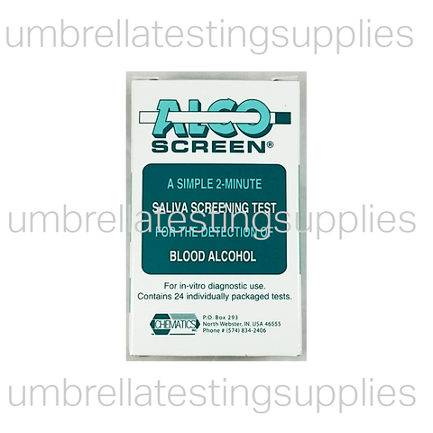 AlcoScreen - Rapid 2-Minute - Saliva Alcohol Test - CLIA Waived