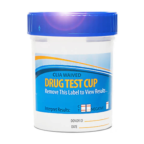 Stock, (w/Specialty Strips ) Blue Styled Cup - Multiple Panel - Urine Drug Test Cup (Adulterant options), CLIA Waived Options