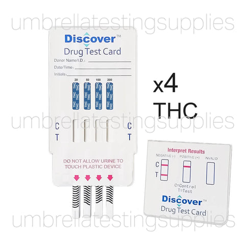 Discover - Marijuana Abuse Dip Card Test - 4 Levels of THC Detection