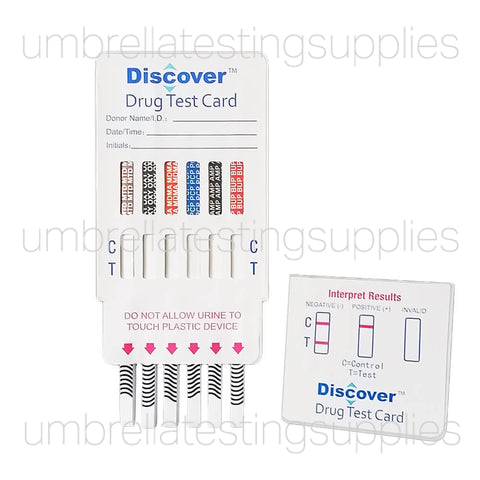 (7 - 12 Panel) Discover - Dip Card - Multi Panel - Urine Drug Test