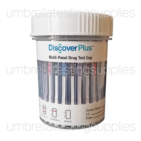 (12 Panel) Discover Plus - Multi Panel - Urine Drug Test Cup