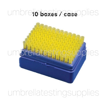 Pipette Tip, 100 - 1000uL, Universal, Graduated, Natural, 70mm, STERILE, Racked, Hinged-Lid Box, 100/Rack, 10 Racks/Case