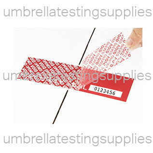 Easy-Peel Tamper Security Tape - Dual-Sided - 330 Strips
