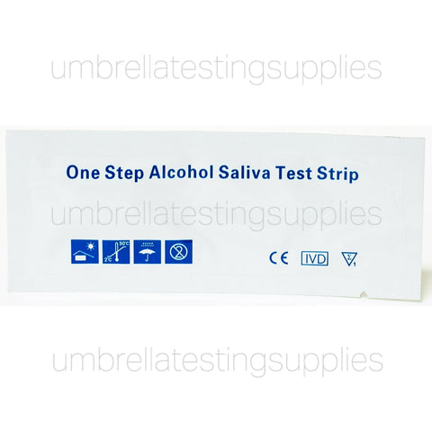 One Step Alcohol Saliva Test Strip - 0.02%