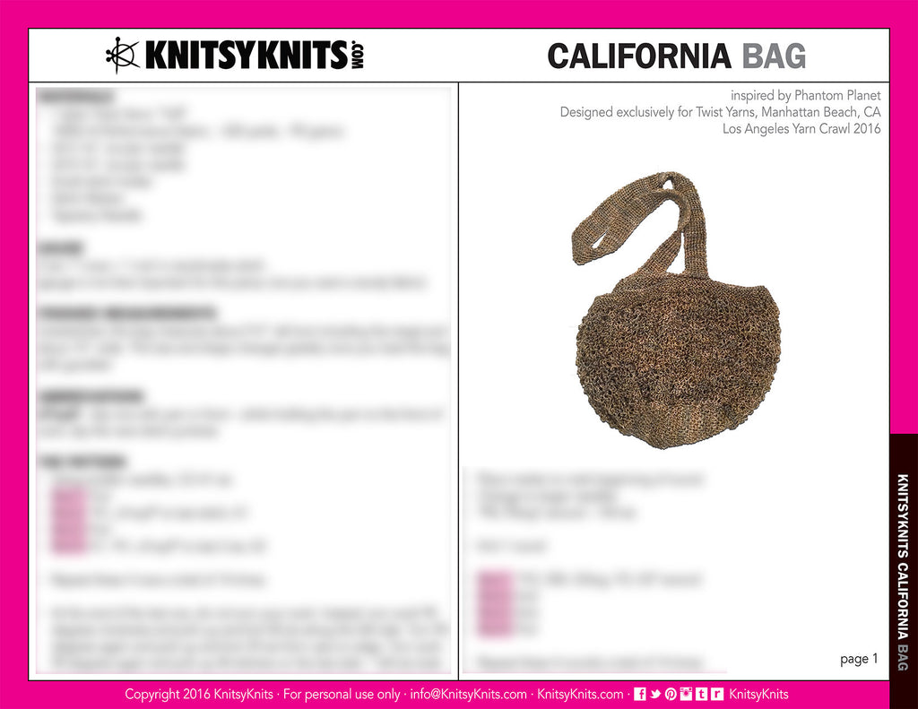 KK Pattern: California Bag