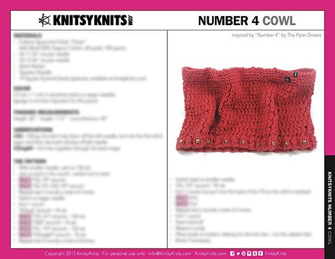 KK Pattern: Number 4 Cowl
