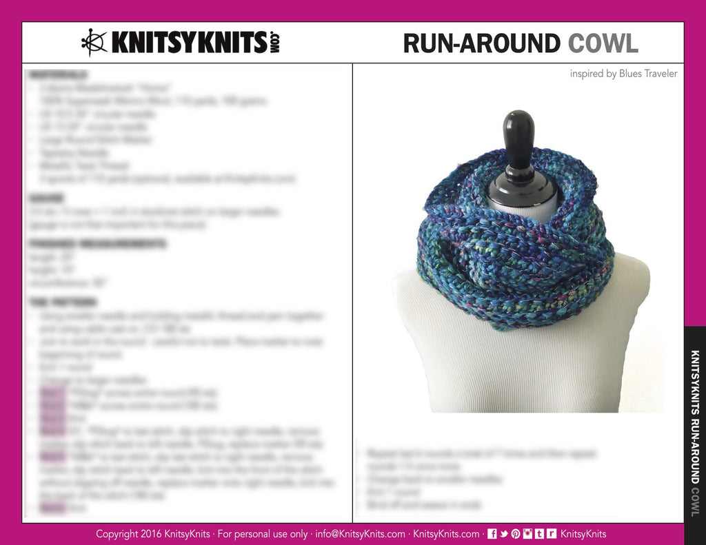 KK Pattern: Run-Around Cowl