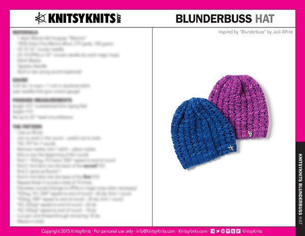 KK Pattern: Blunderbuss Hat