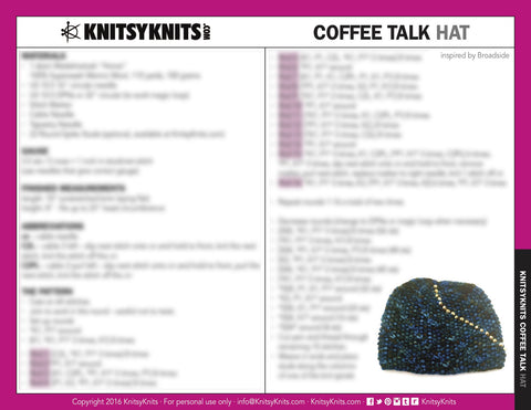 KK Pattern: Killin' Time Hat