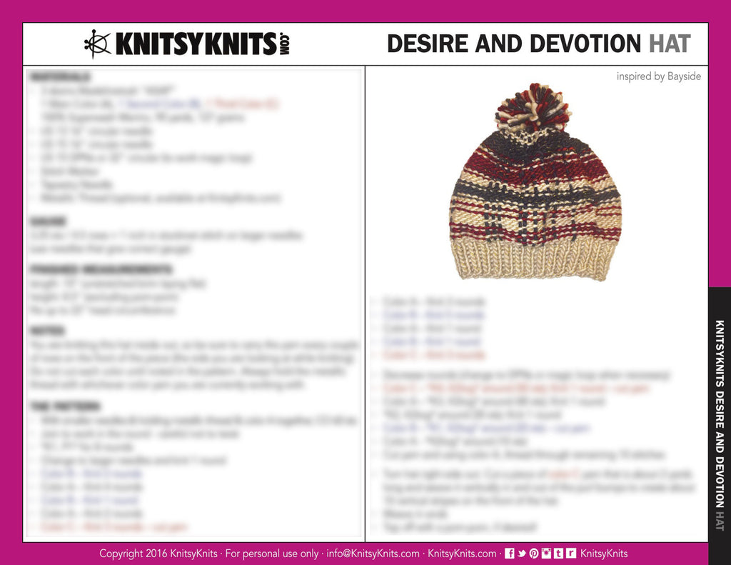 KK Pattern: Desire and Devotion Hat