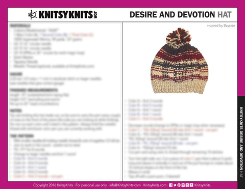 Situation Infatuation Hat Pattern
