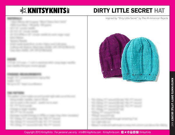 KK Pattern: Dirty Little Secret Hat