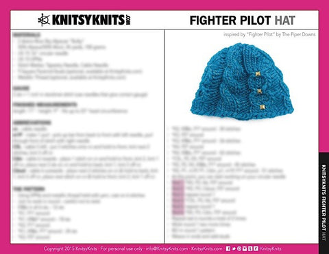 KK Pattern: Fighter Pilot Hat