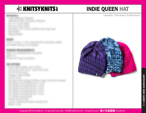 KK Pattern: Indie Queen Hat