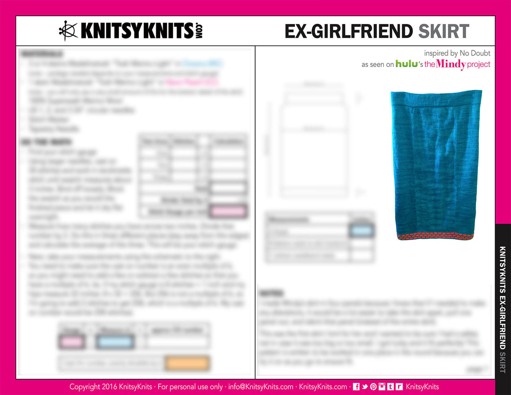 KK Pattern: Ex-Girlfriend Skirt