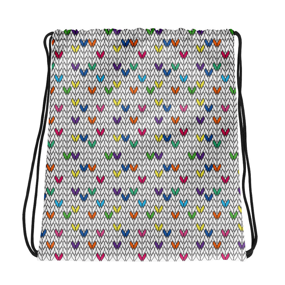 Knitted Fabric Drawstring Bag