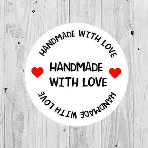 Handmade With Love Stickers Packaging Order Stickers Heart Small Business Postage Package Labels Seller Stickers