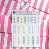 Pastel Rainbow Checklist Planner Stickers Heart Checklist Stickers Cute Pastel Stickers Erin Condren Happy Planner Filofax Kawaii Stickers