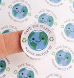 Save The Planet Please Recycle Me Stickers Recycling Stickers Save Environment Stickers Recycle Glass Plastic Cardboard Kawaii Cute Stickers