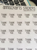 50 Thank You Stickers Round Circle Matte Packaging Labels Simple Stickers, UK United Kingdom