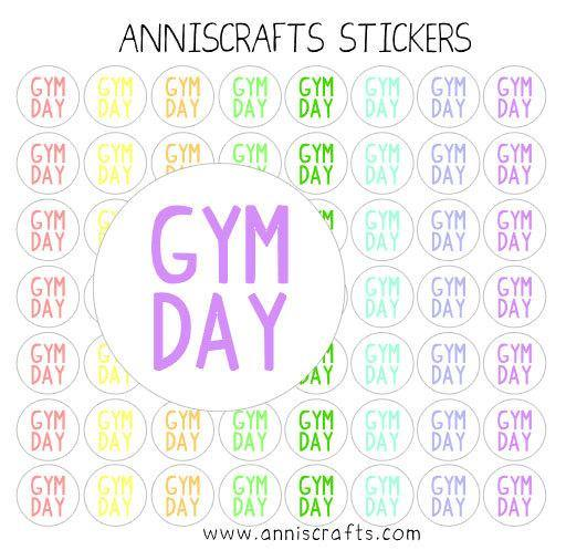 56 Kawaii Gym Day Stickers Planner Small Rainbow Cute Handmade Stickers Matte Erin Condren Kikki K Filofax United Kingdom