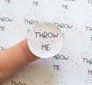 50 Throw Me Round Confetti Seal Stickers Wedding Favor Bag Party Rainbow Polka Dots Cute Sticker Matte United Kingdom anniscrafts