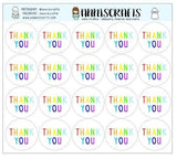 20 Rainbow Thank You Stickers Packaging Happy Envelope Seals Packaging Wedding Favor Gift Wrap Stickers