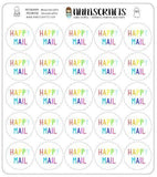 Rainbow Round Happy Mail Stickers Packaging Happy Post Stickers Round Kawaii Cute Envelope Order Stickers