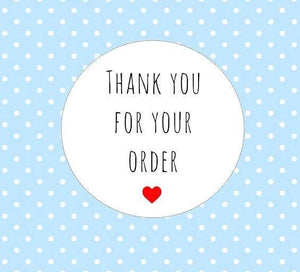30 Thank You For Your Order Stickers Packaging Envelope Order Purchase Seal Stickers Heart Cute Round Label Stickers AC42