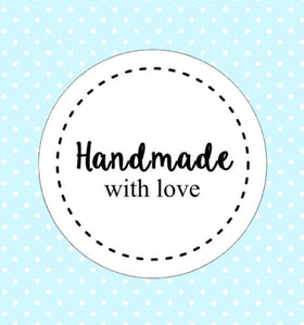 30 Handmade With Love Stickers Packaging Wedding Invitation Seals Favor Labels Gift Wrapping Present Stickers AC38