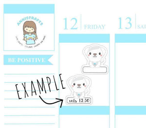 Dogs Vet Stickers Empty Box Dog Planner Stickers Vets Appointment Dogs Meds Reminder Stickers Erin Condren Maltese Dog Stickers