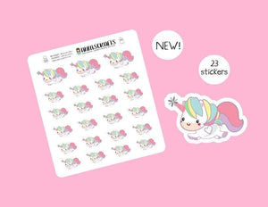 Unicorn Stickers Cute Planner Rainbow Unicorn Kawaii Stickers Horse Unicorn Birthday Stickers UK Seller