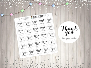 Thank You For Your Order Stickers Packaging Stickers Script Thank You For Your Purchase Stickers Labels Order Stickers UK Seller