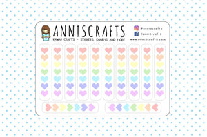 12 Rainbow Heart Checklist Planner Stickers Organiser Heart Stickers Checklist Task Stickers Tick Off Stickers To Do Planner Stickers UK