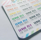 Rainbow Thank You Stickers Thank You For Your Order Stickers Colorful Packaging Stickers