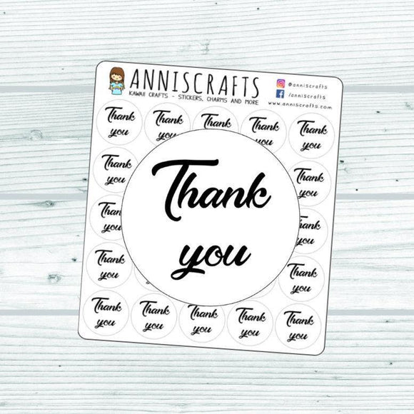 Thank You Stickers, Packaging Stickers, Etsy Order Stickers, Mailing Stickers, Thank You Labels, Script Thank You Stickers