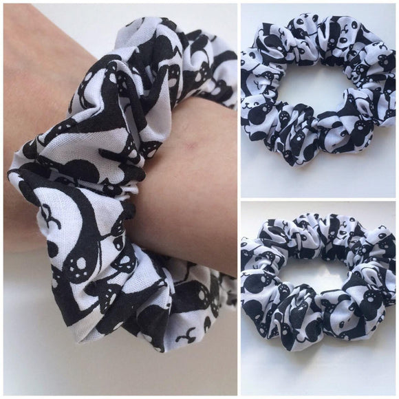 Cute Panda Scrunchie Hair Tie Hair Accessories Fashion Kawaii Hair Tie Kids Adults Kawaii Animal Gift Stretchy Fabric Hair Scrunchie