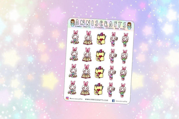 BELLE Planning Planner Stickers Happy Planner Kawaii Girl Stickers Erin Condren KikkiK Filofax Cute Chibi Kawaii Planner Stickers