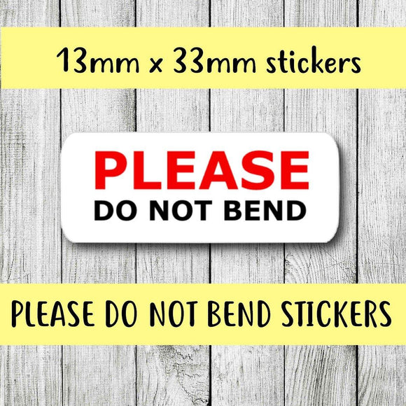 Please Do Not Bend Stickers Packaging Stickers Envelope Order Seals Small Business Stickers Shipping Supplies Stickers