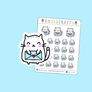 Moochie The Cat Happy Mail Planner Stickers Happy Planner Kawaii Stickers Kitty Cute Happy Mail Stickers Happy Post Stickers UK Seller
