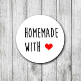 Homemade With Love Stickers Packaging Small Business Labels Food Wedding Christmas Handmade Stickers