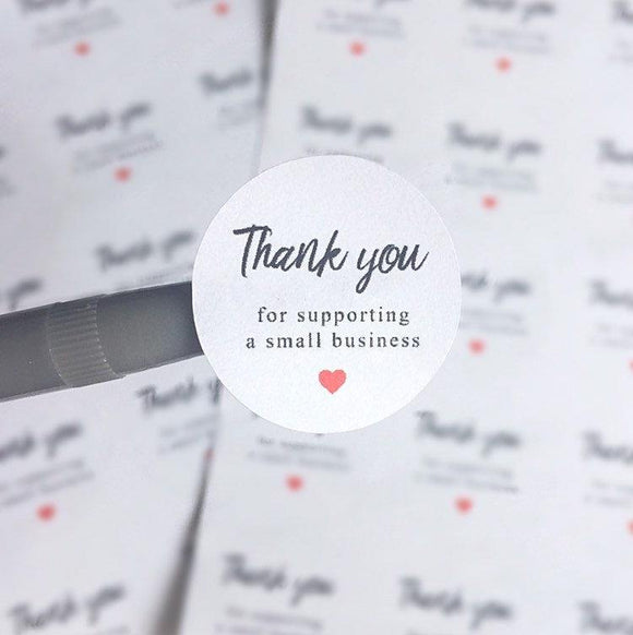 Thank You For Supporting A Small Business Packaging Stickers Business Mailing Happy Mail Stickers