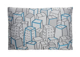 Places Spaces Faces Pillow Case (Steel)